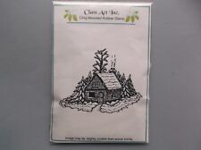 CLASS ACT RUBBER STAMPS CLING WINTER CABIN NEW cling STAMP