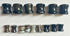 15 pc Closeout Lot Organic Tibet Agate Stone Plugs