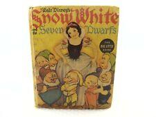 Walt Disney's Snow White and the Seven Dwarfs The Big Little Book 1938 Vintage