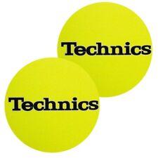 TECHNICS SLIPMATS (YELLOW) coppia panni sottodisco x giradischi turntable