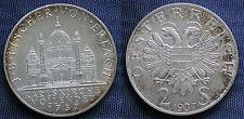MONETA COIN AUSTRIA REPUBLIK ÖSTERREICH 2 SCHILLING 1737-1937 ARGENTO SILVER  #3