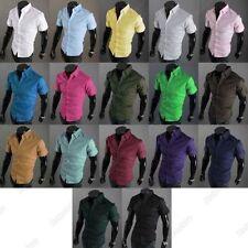 Unbranded Patternless Short Sleeve Formal Shirts for Men