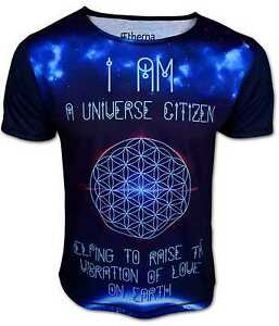 AETHERNA ♥ Blume des Lebens T-Shirt Herren Liebe Energie Esoterik Universum Gott