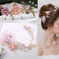 Accessories  Bride Headwear  Headdress Purple Flower Tiara  Pearl Hair Band