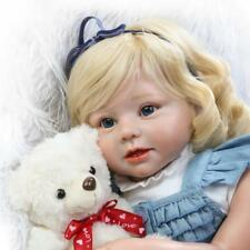 "Reborn Baby Doll Kids Toy 27.5"" Cute Toddler Doll Props Silicone Baby Dolls Gift"