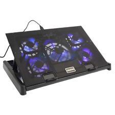 5 Fans USB LED Light Cooler Cooling Adjustable Pad for 10