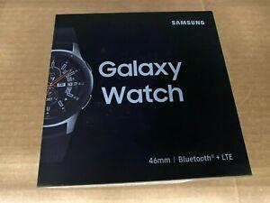 Samsung Galaxy Watch SM-R805U LTE Bluetooth 46mm Silver Case Black Smart NEW
