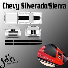 Chevy Silverado Sierra Rally Racing Stripes Vinyl Decal Sticker Graphics Kit