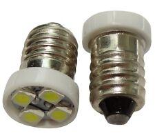 2x ampoules E10 4LED SMD 12V lumière blanche