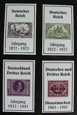 Deutsches u. Drittes Reich 1872 - 1945 = 4 Rückenschilder für Lindner Binder