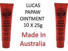 10 x 25g Lucas Papaw Ointment Nappy Rash Cream Paw Paw Nappy Rash Cream Lip Balm