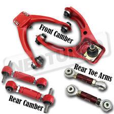 For 96-00 Civic EK EM1 Adjustable Front+Rear Upper Camber+Toe Arm Suspension Kit
