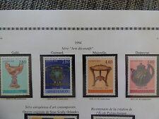 1994- serie arts decoratifs -4 timbres
