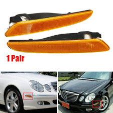 For 2007-2009 Mercedes Benz E-Class W211 Front Bumper Side Marker Light Lamp Kit