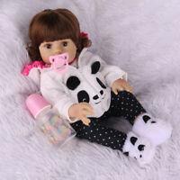 "18""Realistic Reborn Baby Doll Newborn Full Body Vinyl Silicone Girl Anatomically"
