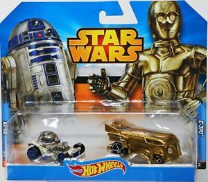 Hot Wheels Star Wars R2-D2 & C-3PO 2-Pack #CGX04 Never Removed from Package 1:64