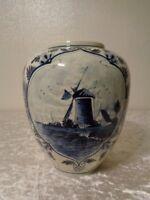 Ceramica Vaso - Holland - Dipinti Mano - Altezza 21 cm - Mulino a Vento