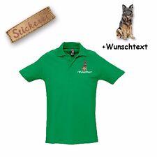 Camiseta Polo Algodón Bordado Perro Perro pastor 1 + Texto personalizado