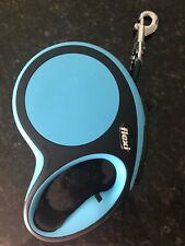 Used 1 X Flexi Classic Retractable Dog Leash Color Blue Size Medium 16'