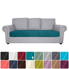 Sofa Seat Slipcovers Couch Cushion Covers 3 Seater Stretch Spandex Non Skid V5F7