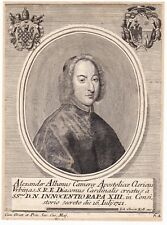 Portrait XVIIIe Alessandro Albani Cardinale di Santa Romana Chiesa Urbino