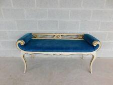 Vintage French Louis Xv Style Rolled Arm Bench