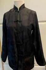 SILK Reversible 100% Silk Asian Jacquard Mandarin Style Jacket