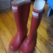 Hunter Wellies Wellington Boots Red UK Size 5 SEE DESCRIPTION