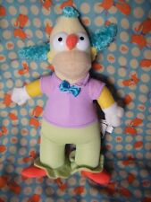 "Simpsons Krusty the clown soft toy  8"" approx VGC"