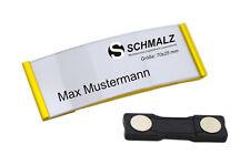 Gewölbtes Aluminium Namensschild | aus Metall | gold | Magnet | Papiereinschub