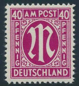 Bizone Nr. 30 XVI postfrisch / **, PLATTENFEHLER (46796)