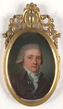 "Henri Pierre Danloux-Attrib. ""Portrait of a young gentleman"", oil/silver, 1790s"