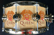 """DW Queen Snare Drum Maple 14x6,5"""" Roger Taylor Gold Hardware Exotic Rullante"""