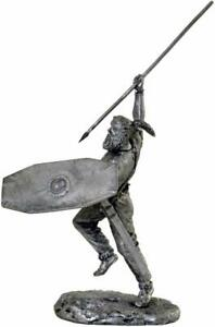 Barbarians. Celtic warrior in battle. Tin toy soldier 54mm miniature statue.