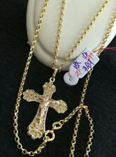 "GoldNMore: 18K Gold Necklace 20"" Chain with Pendant TPN"