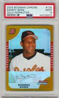 2005 Bowman Chrome Sammy Sosa Gold Refractor /50 PSA 9 Mint *Pop 1* Only Graded