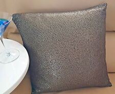 SEQUINED Front Cushion~Pre~Filled ~45 x 45cm~Chocolate Brown