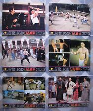 """6 China NEW FIST OF FURY Lobby Card Movie poster 10x14"""" Jackie Chang Kung Fu"""