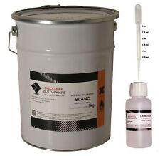 5kg. de GEL COAT POLYESTER ISO. BLANC, avec 125g. de catalyseur et 1 pipette.