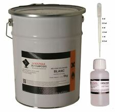 5kg. de GEL COAT POLYESTER ISO. MARINE BLANC, 125g. de catalyseur & 1 pipette.
