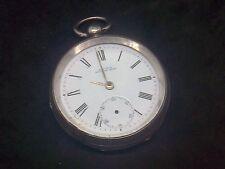 Vintage silver pocket watch A.W. Co Waltham Mass 358 y A.B date B 10303525 116.5 G