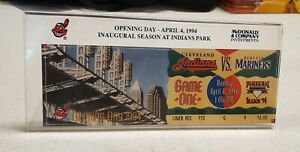 1994 Cleveland Indians Opening Day Ticket  Inaugural Game at Jacobs Field