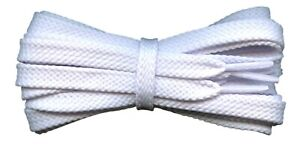 Flat White Shoelaces 8 mm for casual and sports shoes for Converse Vans