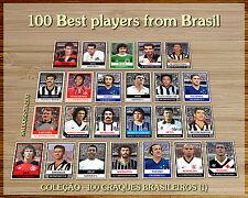 100 cards football soccer best players from brazil pelé rivelino Zico Ronaldo