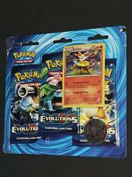 Pokemon- XY Evolutions-2016- 3-Booster Blister Pack- Braixen Promo- New!!!