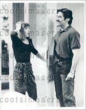 1992 Actress Dinah Manoff TV Host Geraldo Rivera TV Show Empty Nest Press Photo