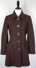 TULLE Anthropologie Brown Wool Blend Peacoat Large Buttons Lined Size Medium