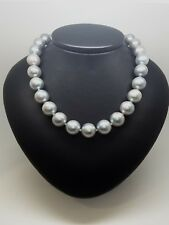 Miran 170491 Grey South Sea Pearl Necklace 10mm-12mm Knotted 47cm RRP$1500