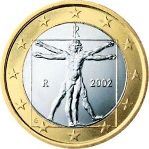 2002 ITALY  1 EURO   KM 216 1ST YEAR EUROPEAN UNION EURO'S  BU COINS   EURO