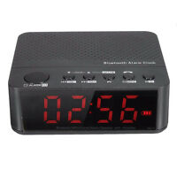Bluetooth Digital LED Display Alarm Clock Speaker Amplifier FM Radio Mp3 Pl Y1M6